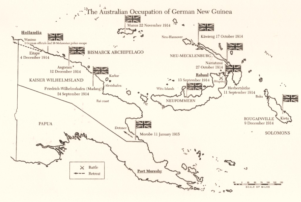 World War I Scare Map Germany Invades Australia – Map Germnay